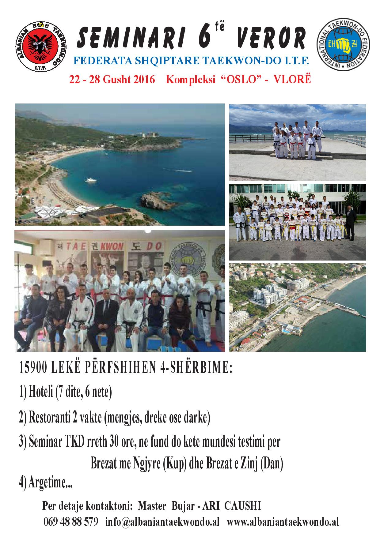 6′ Summer Camp  22-28/08/2016 Vlore ALBANIA