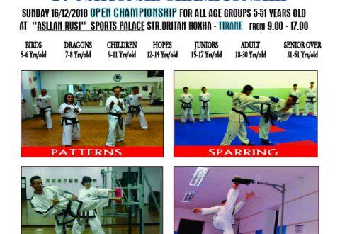 Kampionati i 24° Kombëtarë dhe 4°OPEN GEN.CHOI